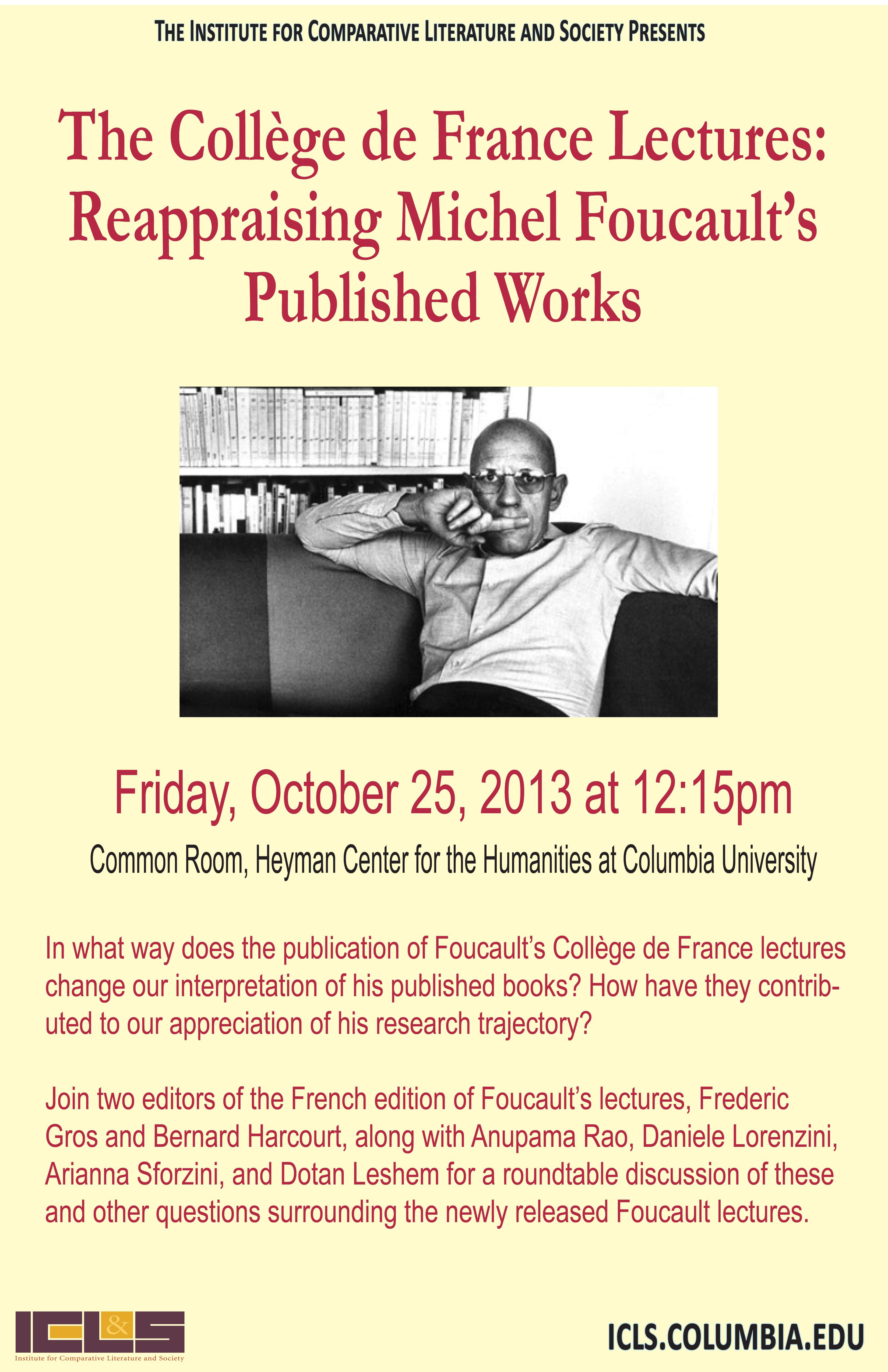Round table discussion flyer - Dotan Leshem College De France Lectures 10 25 13 Indd Pdf Flyer