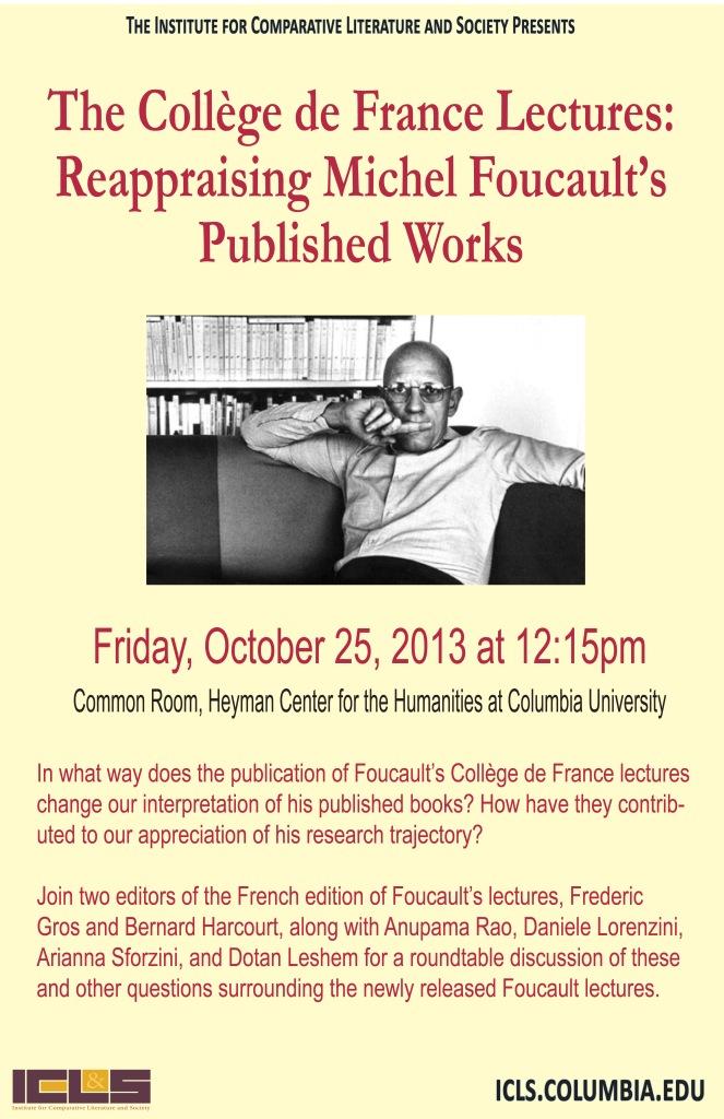 Dotan Leshem College de France lectures 10.25.13.indd