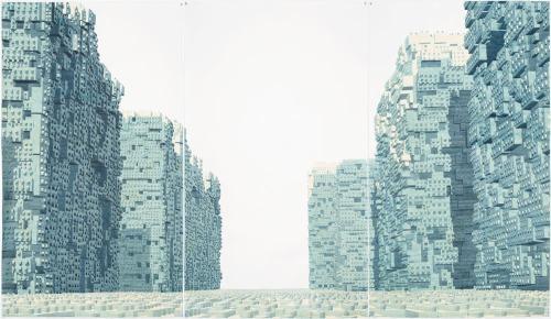 Los Carpinteros, Avenida, 2013 (triptych) Courtesy Edouard Malingue Gallery
