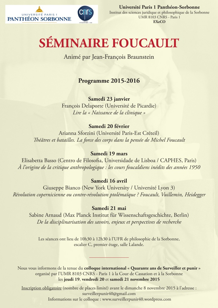 Seminaire Foucault 2015-2016