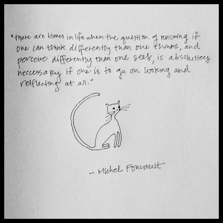 foucault citater Foucault artwork at Quotes and Cats (2016) | Foucault News foucault citater