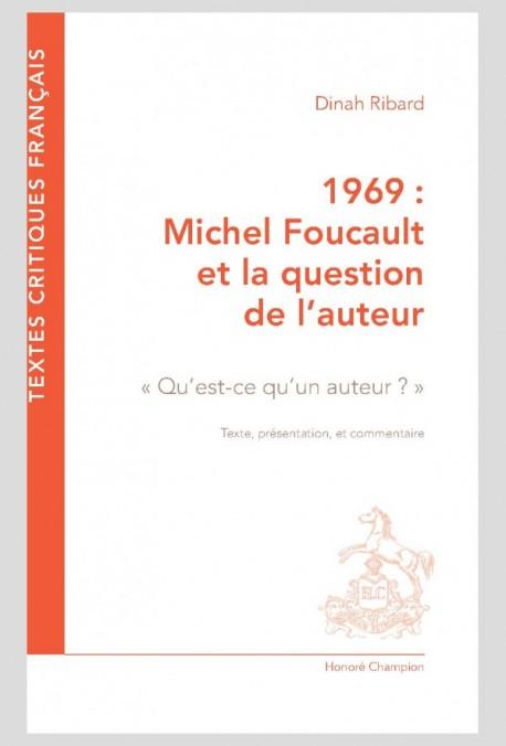 1969 Michel Foucault Et La Question De L Auteur Qu Est Ce Un 2019 News Dissertation Sur Le Role Ecrivain