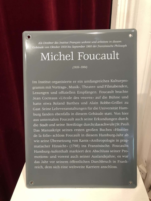 Foucault in Hamburg plaque